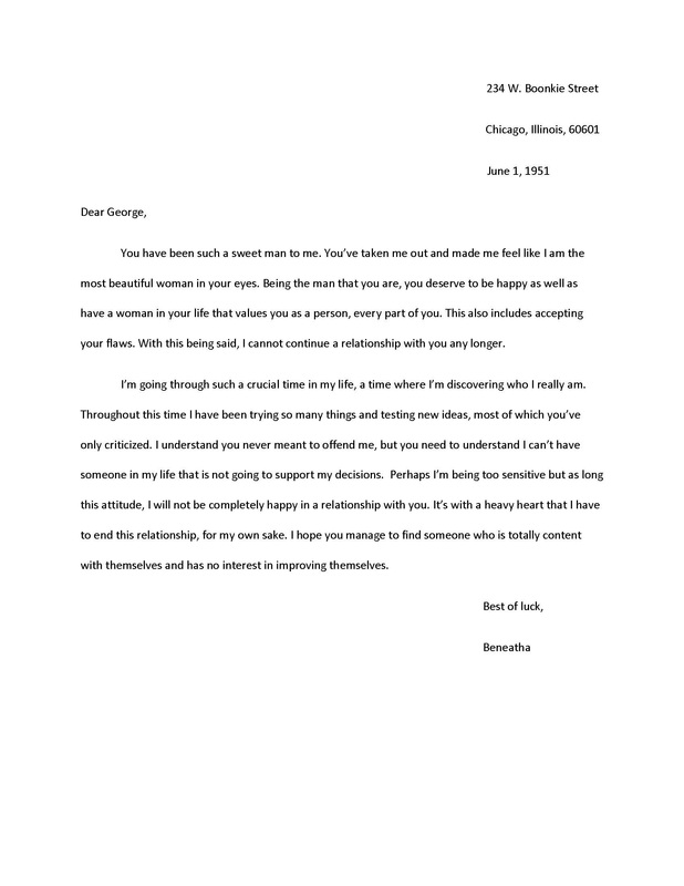 Personal Letter for a Raisin in the Sun Marianas Webfolio